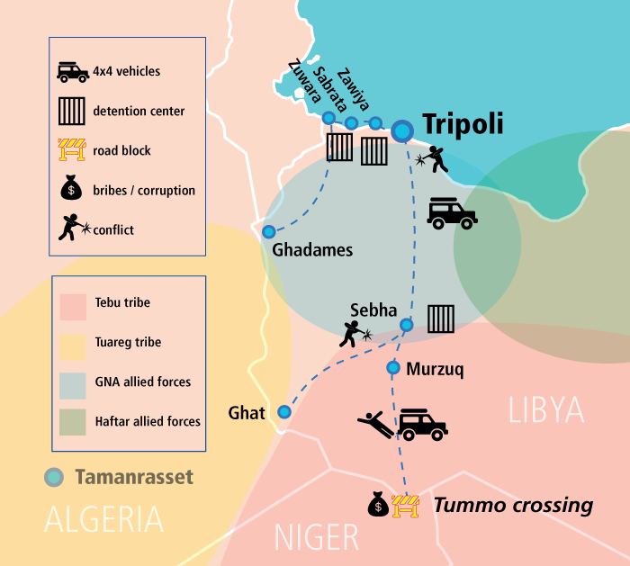 The contested route northern Mali and Libya Turning the tide