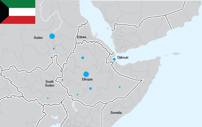Mapping the extent of gulf investments and oda in the horn of africa map of number of kuwaiti investments in the horn of africa gumiabroncs Images