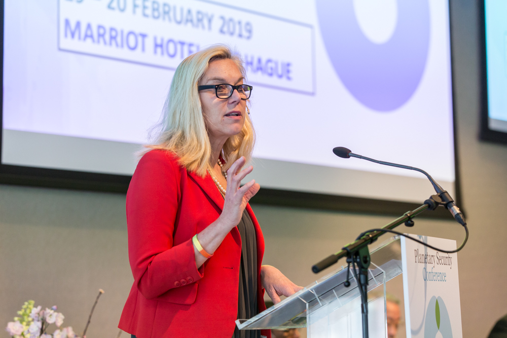 Dutch minister Trade and DC Sigrid Kaag during PSI Conference 2019