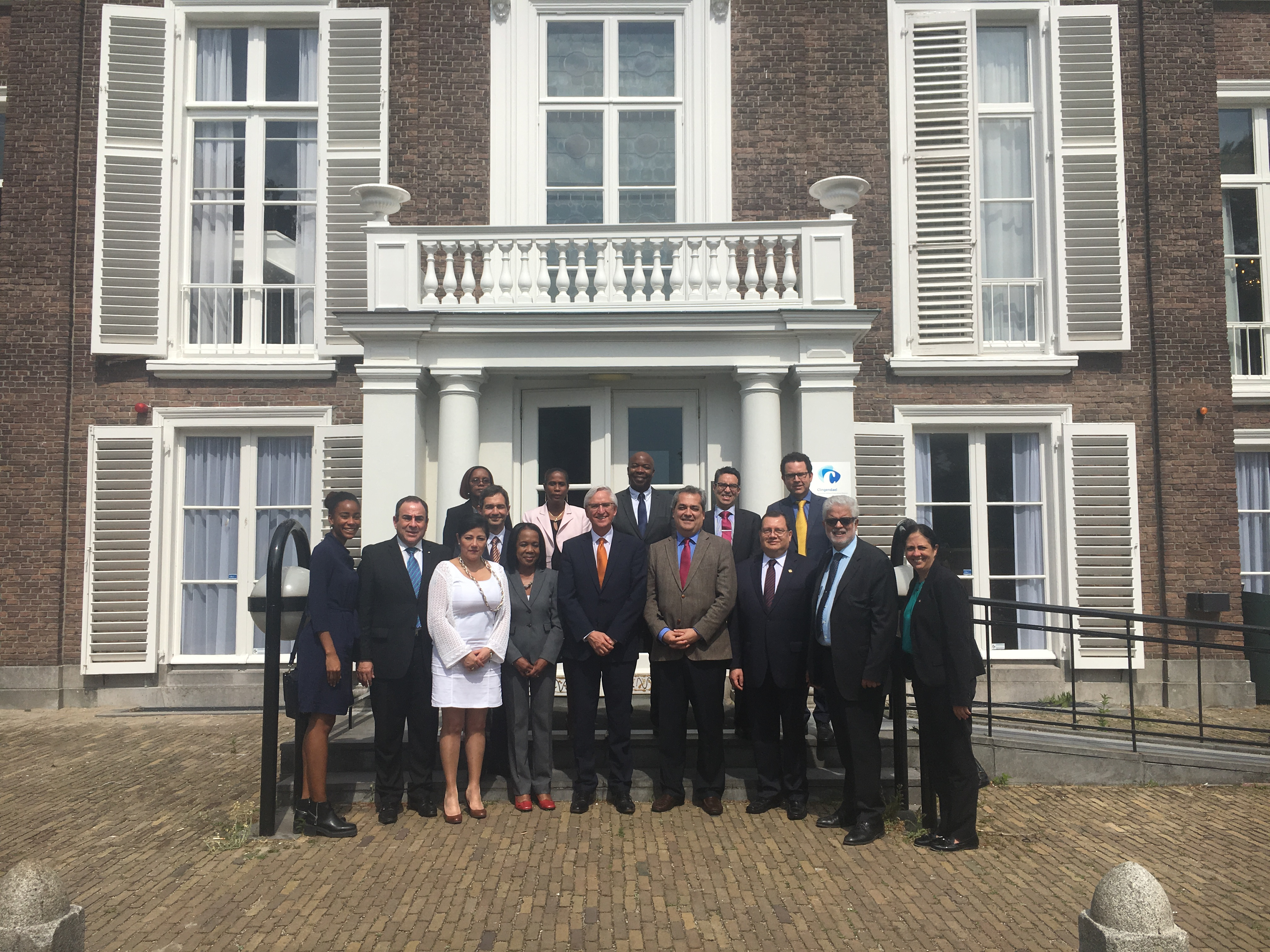 Ambassadors and other Representatives of Embassies in The Hague or Brussels together with Mr. Ron Ton, Director of Clingendael Academy