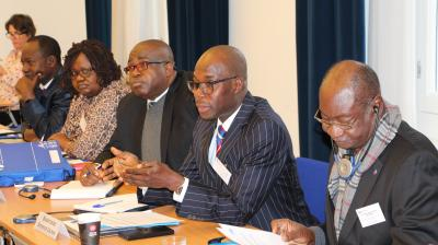 ECOWAS and African Union mediators connecting in a joint training