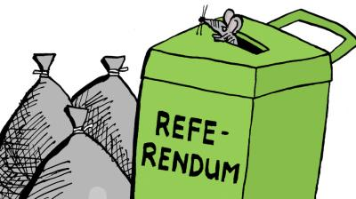 Moge al die referenda in de vuilnisbak eindigen