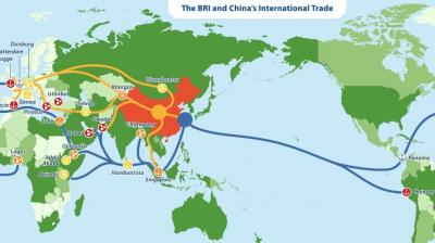 New Map of the Belt and Road Initiative