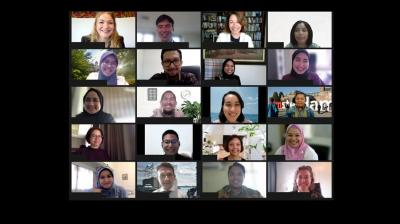 Indonesian mid-career Diplomats conclude online training